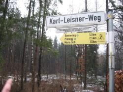 Der Karl-Leisner-Weg führt zur Wallfahrtskirche Maria Eich.