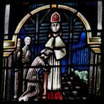 Fenster im Dom zu Xanten: Priesterweihe im KZ